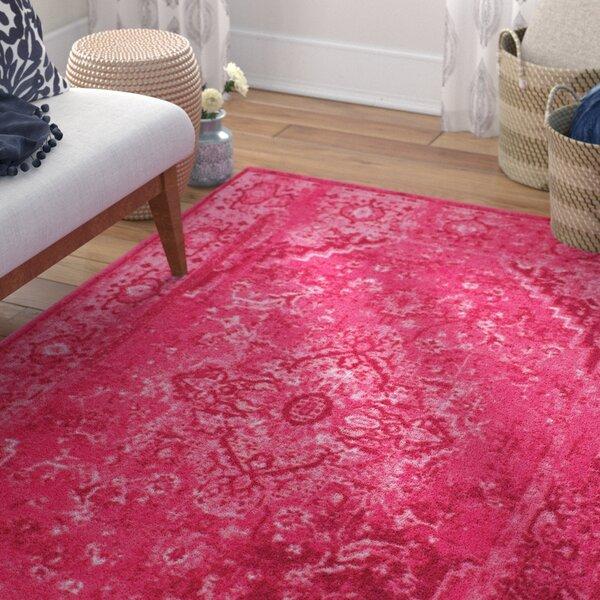 Decker Pink Area Rug by Mistana