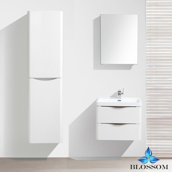 Manes 24 Wall Mounted Single Bathroom Vanity Set with Mirror by Orren Ellis