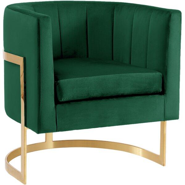 Leila Barrel Chair by Everly Quinn Everly Quinn