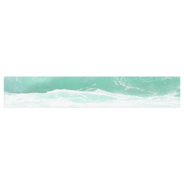 Monika Strigel Maui Waves Table Runner by East Urban Home