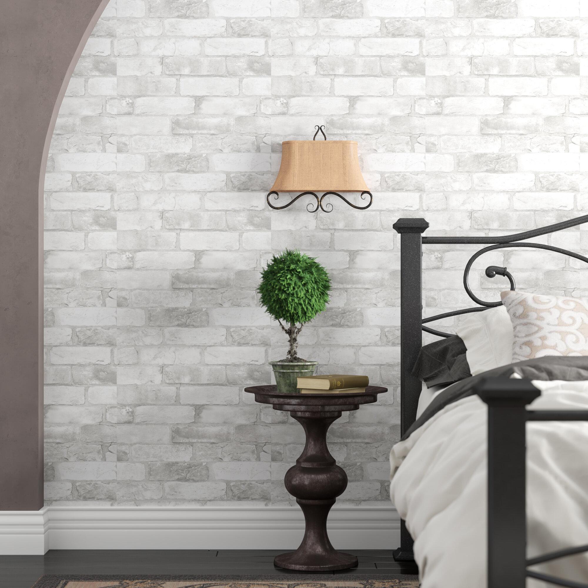 Gracie Oaks Bethea Loft Brick Peel And Stick 18 X 20 5 Wallpaper Roll Reviews Wayfair
