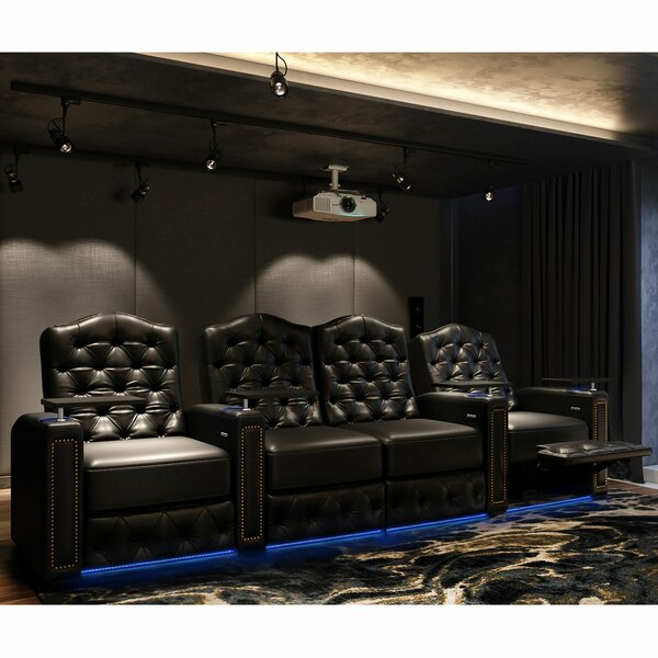 Regal HR Series Home Theater Loveseat (Row Of 4) By Winston Porter