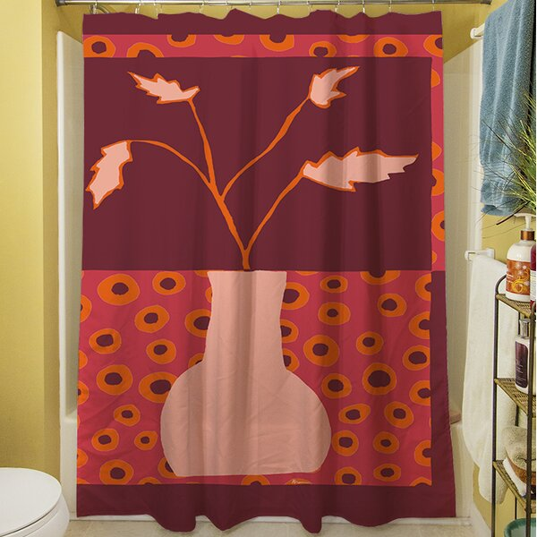 Minimalist Flowers II Shower Curtain by Manual Woodworkers & Weavers