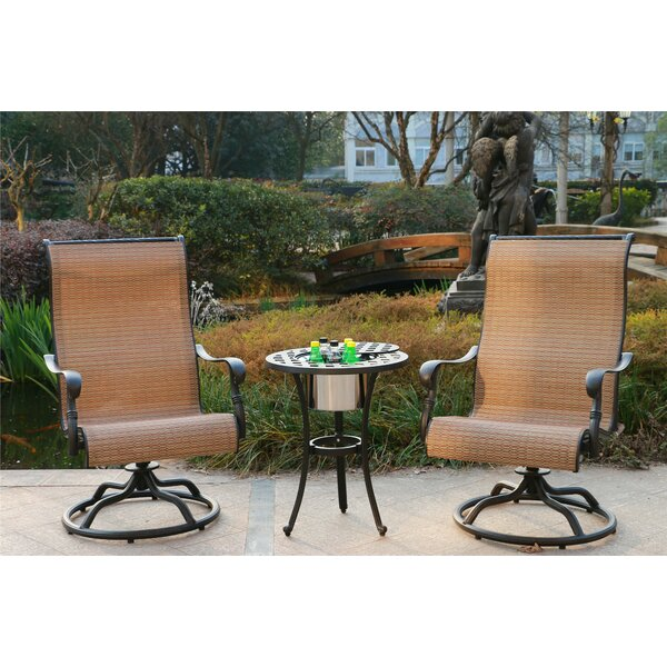 Scoville Aluminum 3 Piece Bistro Set by Canora Grey