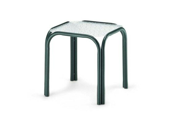 Obscure Acrylic Square End Table (Set of 4) by Telescope Casual