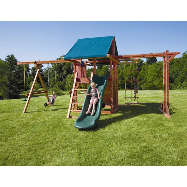 Redwood Grand Stand Swing Set by Kids Creations