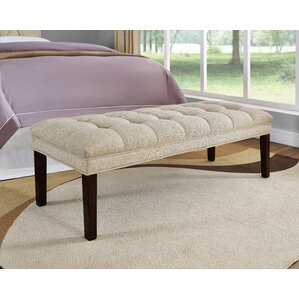 Heider Upholstered Tufted Bench by Latitude Run