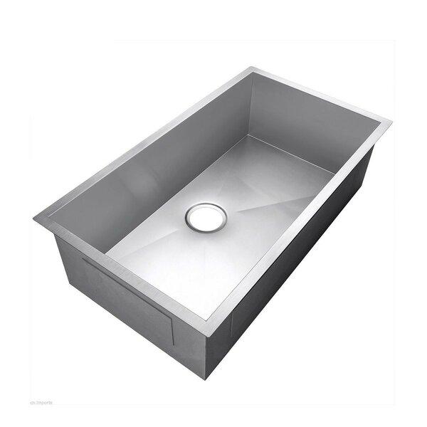 33.5 L x 17.5 W Undermount Kitchen Sink