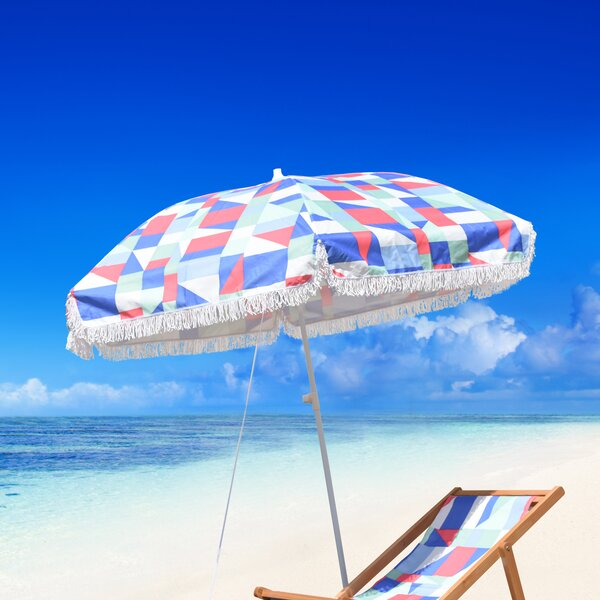 Reeve Fiberglass Portable 6.5' Beach Umbrella by Brayden Studio Brayden Studio