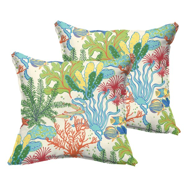 Evadne Outdoor Throw Pillow (Set of 2) by Bayou Breeze
