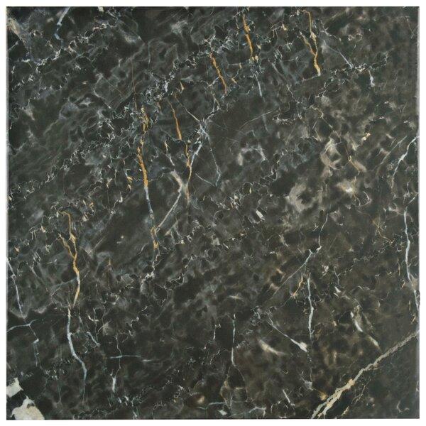 Valens 17.75 x 17.75 Ceramic Field Tile in Nero by EliteTile