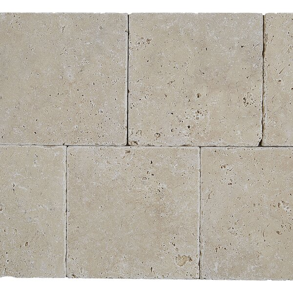 Hopkins 6 x 6 Travertine Field Tile in Ivory Classico by Itona Tile