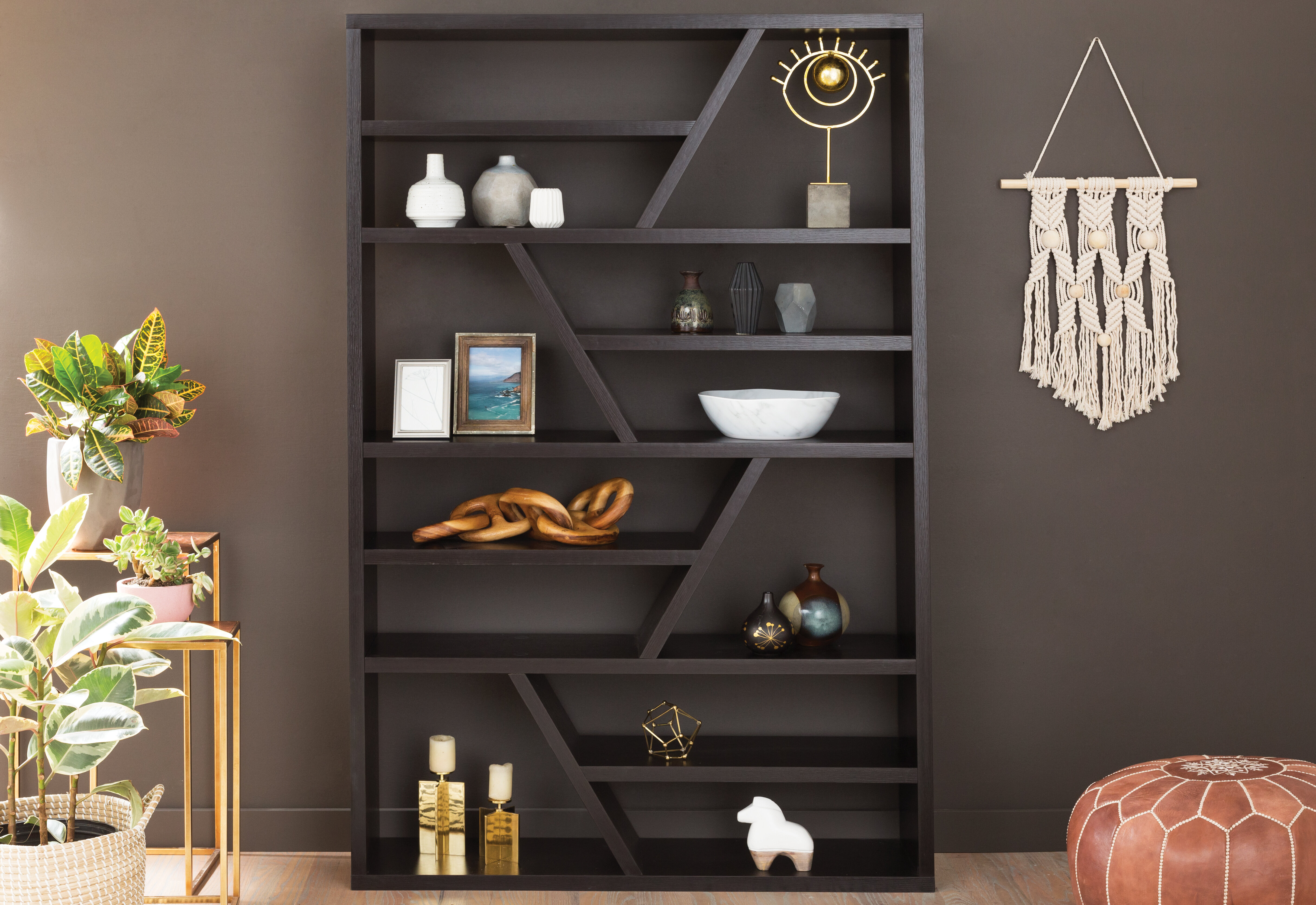 Swarey Geometric Bookcase