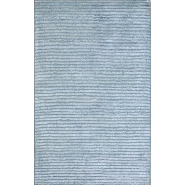 Edgy Hand-Tufted Blue Area Rug by Pasargad
