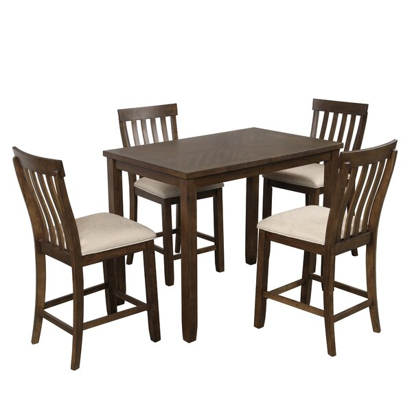 Carnmore 5 Piece Counter Height Breakfast Nook Dining Set by Winston Porter Winston Porter