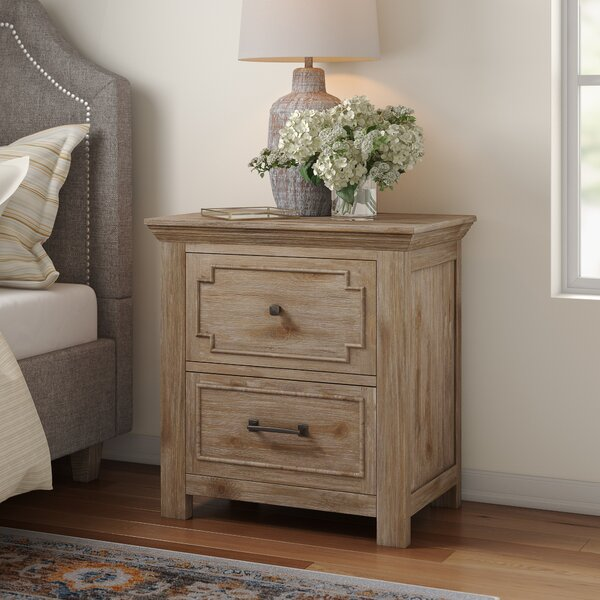 Tyne 2 Drawer Nightstand by Three Posts