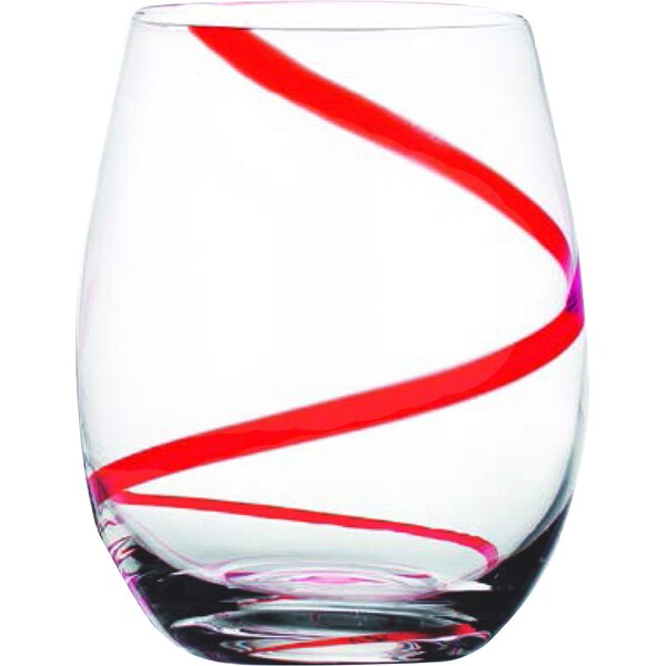 Gravette Swirl Stemless Glass (Set of 4) by Ebern