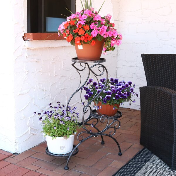 Victorian 3-Tier Indoor/Outdoor Plant Stand by Wildon Home ®