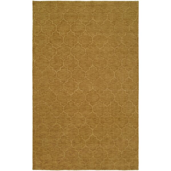 Brar Hand-Woven Brown Area Rug by Meridian Rugmakers