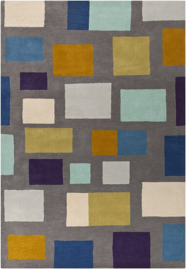 Pewter Hand Woven Wool Gray/Blue/Beige Area Rug by Scion
