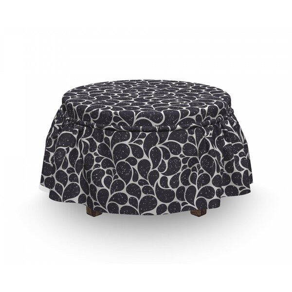 Teardrop Shapes Grunge Ottoman Slipcover (Set Of 2) By East Urban Home