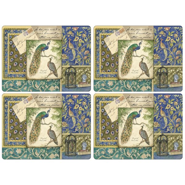 Peacock Tapestry Placemat (Set of 4) by Pimpernel