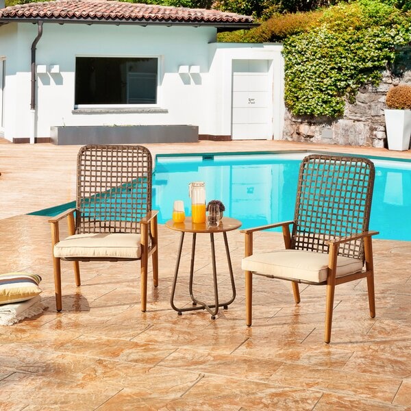 Hawes 3 Piece Seating Group with Cushions by Bayou Breeze