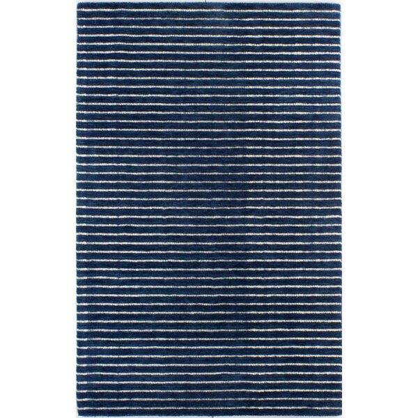 Worsham Hand-Woven Wool Blue Area Rug by Mercury Row