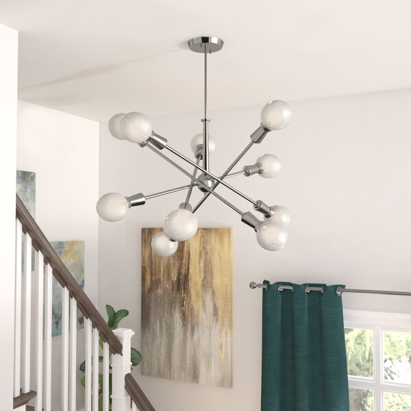 Langley Street Lexington 10 Light Sputnik Chandelier Reviews Wayfair Ca