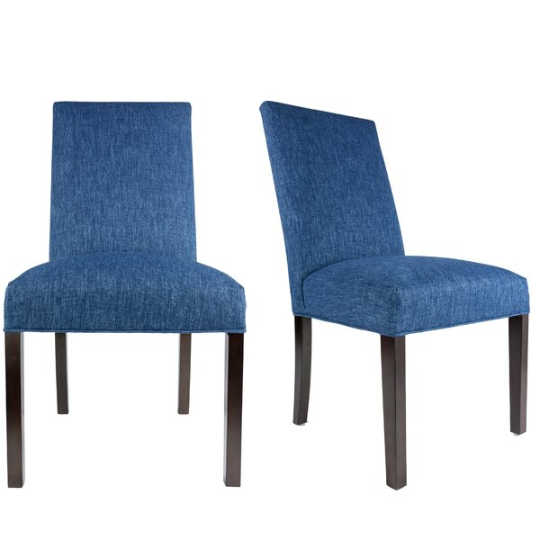 Lloyd Upholstered Contemporary Parsons Chair (Set Of 2) By Latitude Run Great price