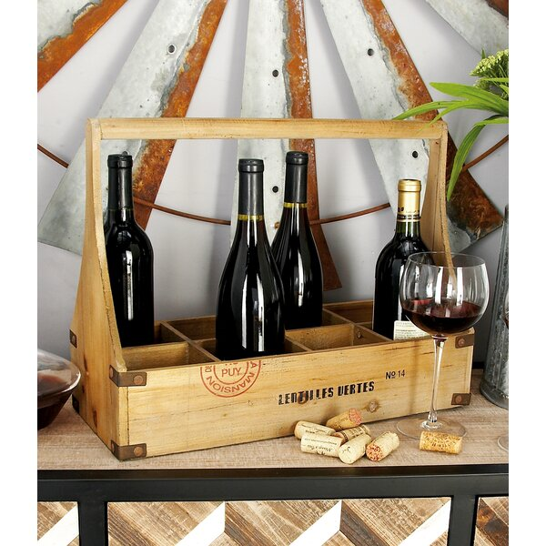 Wood 8 Bottle Tabletop Wine Bottle Rack by Cole & Grey