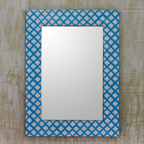 Illusion Resin Handmade Wall Mirror by Novica