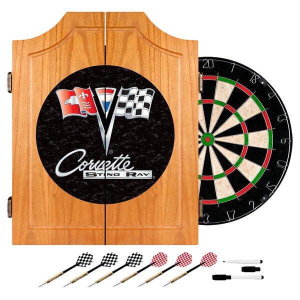 Corvette C2 Wood Dart Cabinet Set by Trademark Global