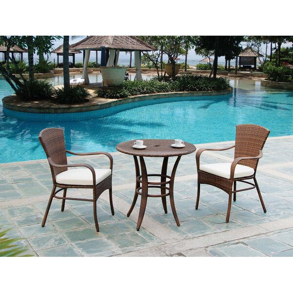 Key Biscayne 3 Piece Bistro Set with Cushions by Panama Jack Outdoor