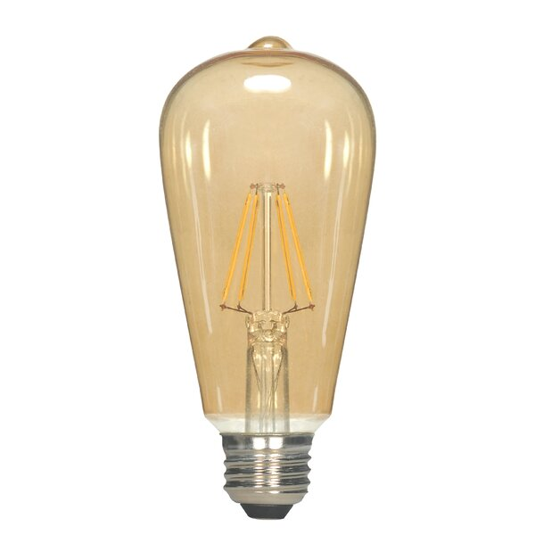 Amber E26 Medium LED Vintage Filament Light Bulb by Satco