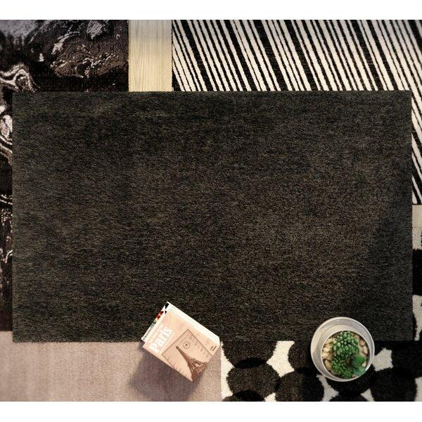 Page Dark Gray Shag Area Rug by Wade Logan