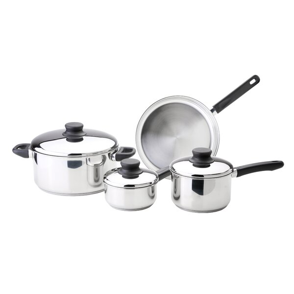 Kitchen Basics 7-Piece Stainless Steel Cookware Set with Lids by Kinetic