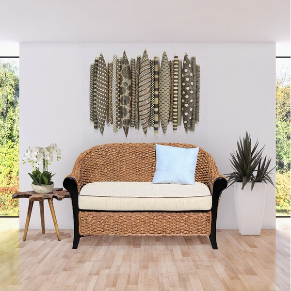 Water Hyacinth Soldano Loveseat by Chic Teak