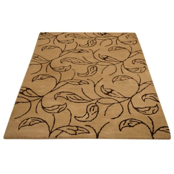 Rochel Hand-Tufted Wool Black/Ivory Area Rug by World Menagerie