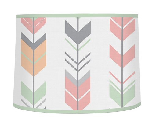Mod Arrow 10 Microfiber Drum Lamp Shade by Sweet Jojo Designs