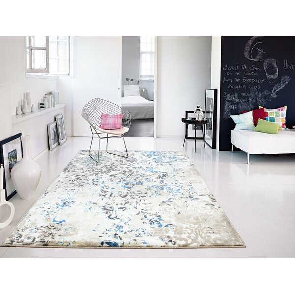 Leday Foyer Blue/Cream Area Rug by Ophelia & Co.