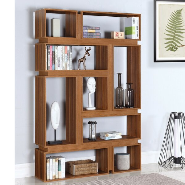 Gilson Geometric Bookcase By Loon Peak Cheap