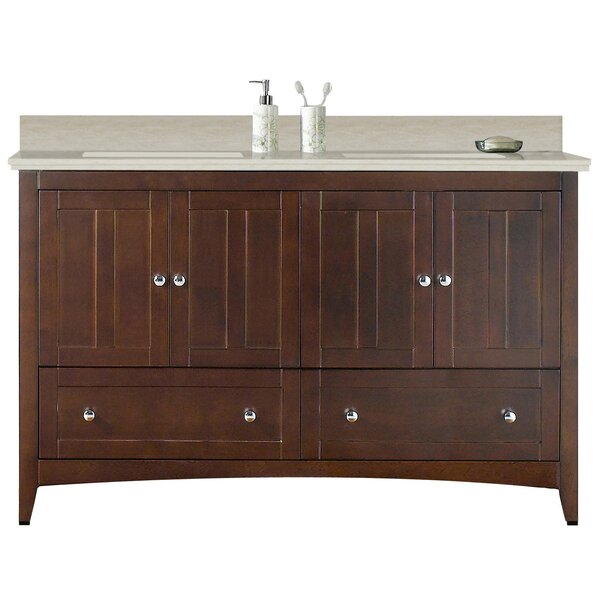 Artic Modern 59 Rectangle Single Bathroom Vanity Set by Longshore Tides