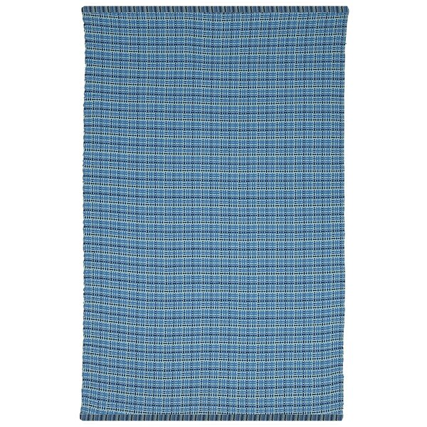 Estate Theory Hand-Woven Blue Indoor/Outdoor Area Rug by Fab Habitat