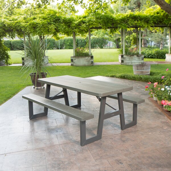 Plastic/Resin Picnic Table by Lifetime Lifetime