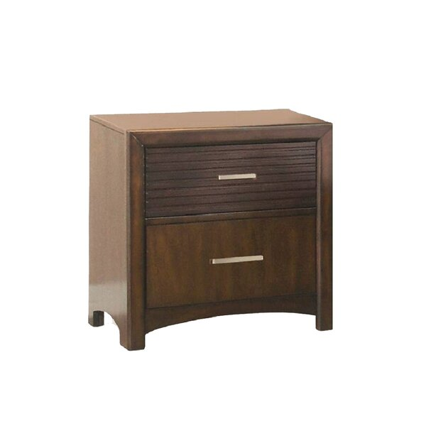 Edison 2 Drawer Nightstand by New Spec Inc