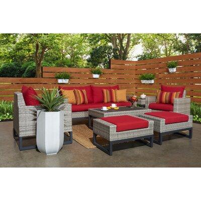 Wade Logan Rattan Sunbrella Sofa Set Cushions Cushion Color Seating Groups