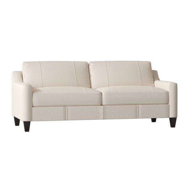 Jesper Leather Sofa by Wayfair Custom Upholstery™