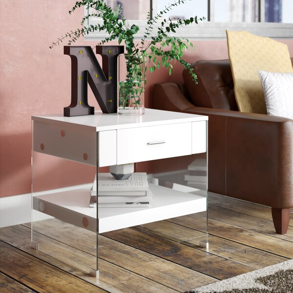 Guero Contemporary End Table With Storage By Trent Austin Design