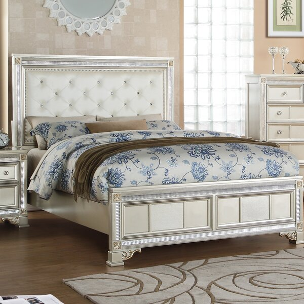 Skaggs Upholstered Standard Bed by House of Hampton